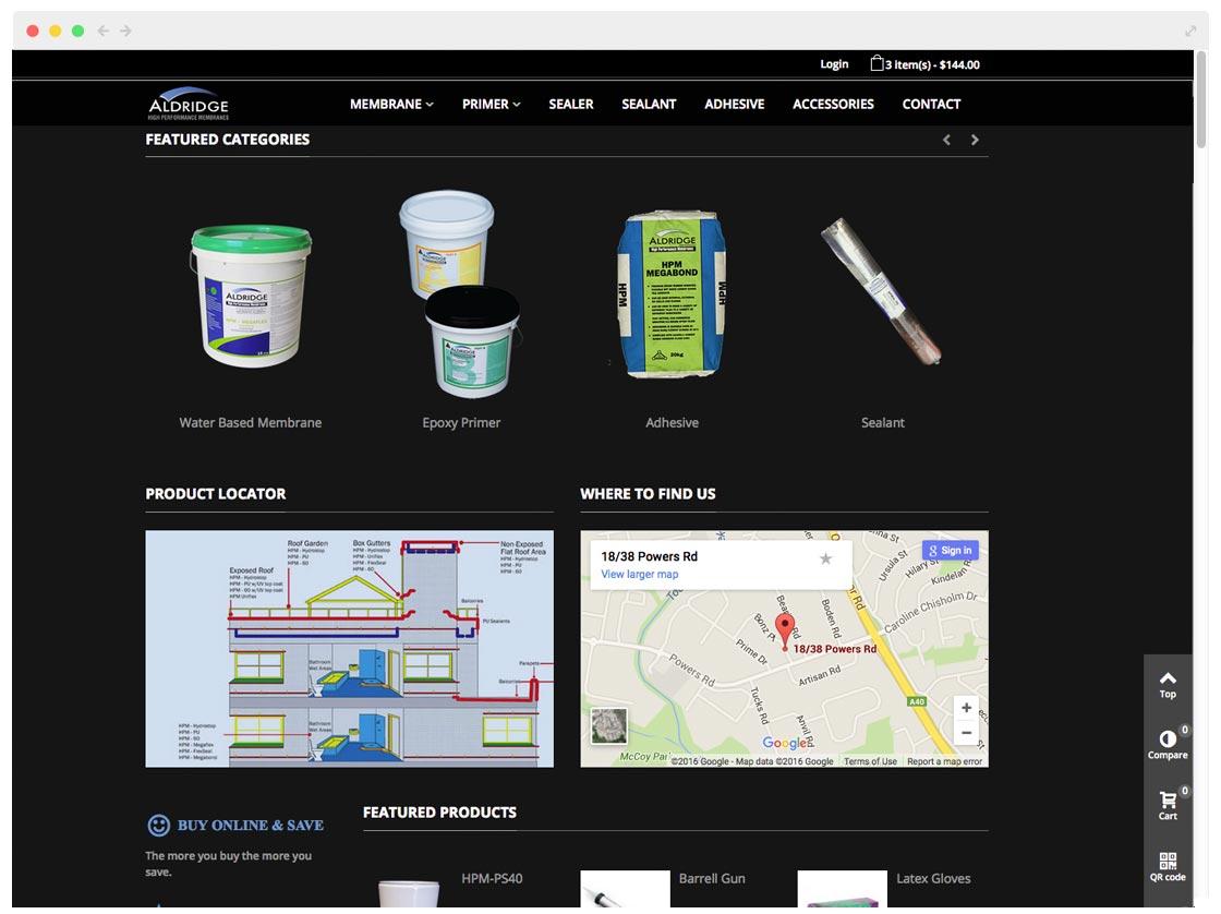 sydney website design for HPMA ecommerce